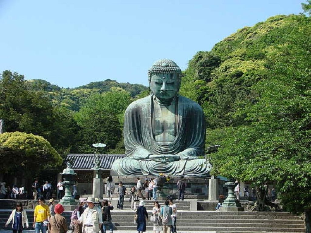 The Great Buddha overlooking the city of Kamakura