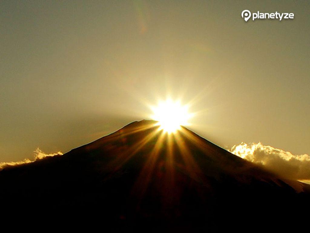 Diamond Fuji which can be beautifully seen in winter