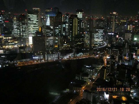 Osaka Night View and Christmas Illumination