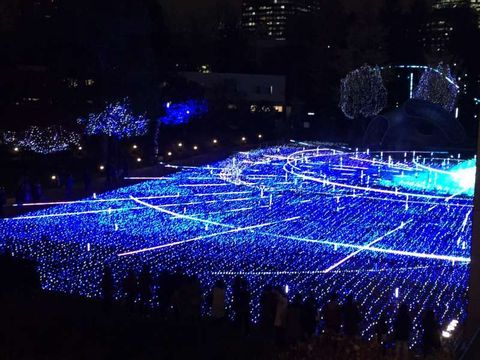 Christmas illumination at Tokyo
