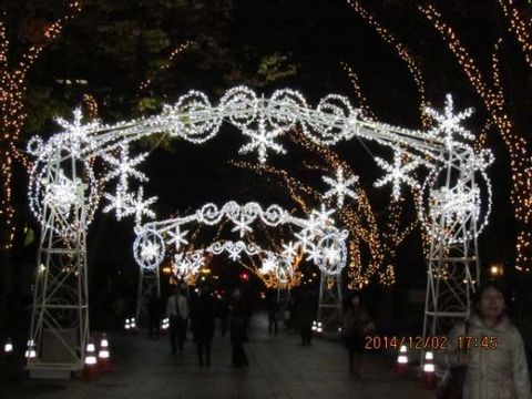 Merry Christmas Illumination From Osaka (with a video)
