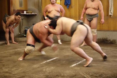 Sumo Wrestlers Morning Training Watch in Osaka (February and March only)