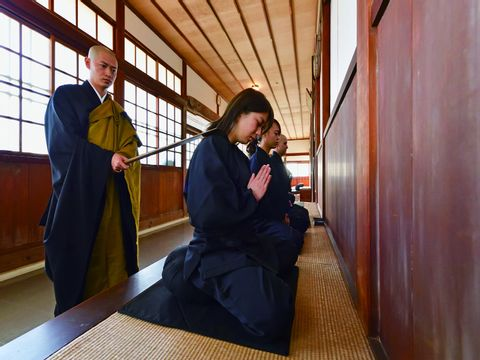Zen Buddhism practice at the historic temple of Kasuisai