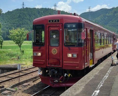 Local classic train-ride and silk-screen printing in Gujo