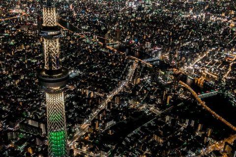 [45 Minutes] Tokyo Tour: Tokyo Yokohama Night helicopter tour