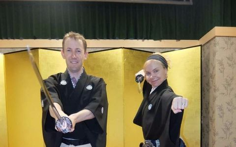 Samurai Kembu School in Kyoto: Samurai for a Day - 1 hour lesson -