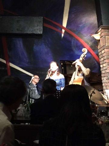 Night life in Tokyo. Live Jazz club