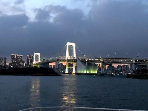 Tokyo Rainbow Bridge sunset time