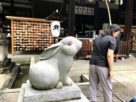 Rabbit shrine near SHIN's villa in Kyoto