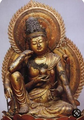 Nyoirin Kannon ('Bodhisattva of Compassion') which I fell in love