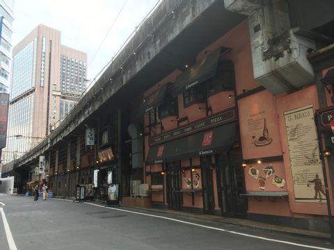 Zona comercial bajo los ferrocarriles elevados