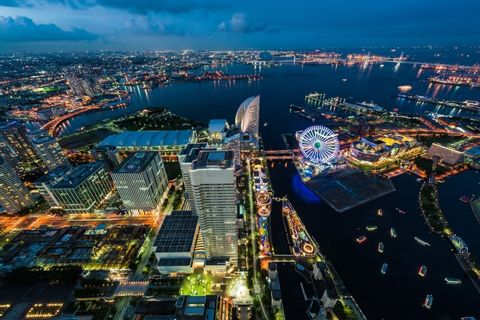 [15 Minutes] Yokohama Tour: Yokohama Night City Helicopter Tour