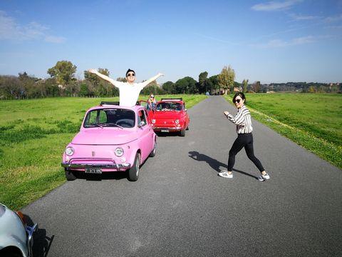 FIAT 500 self-drive Tour in Convoy