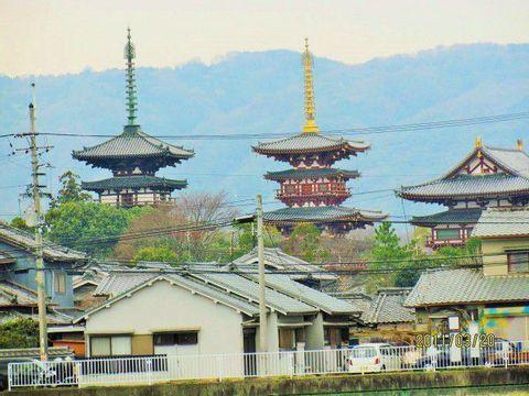 Nara Palace site, Yakushi-ji, Toshodai-ji , and Saidai-ji Temples