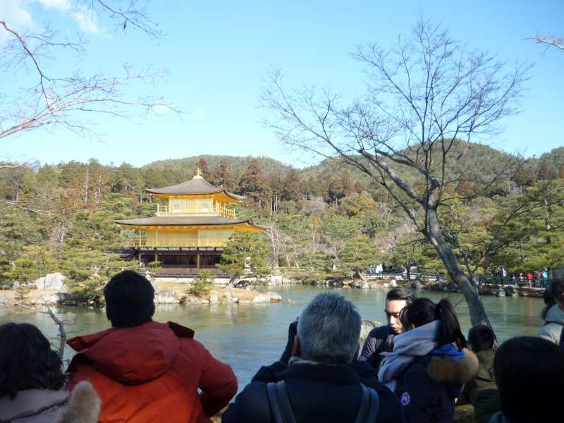 Kinkakuji, the Golden Pavilion. One of the most popular destination in Kyoto