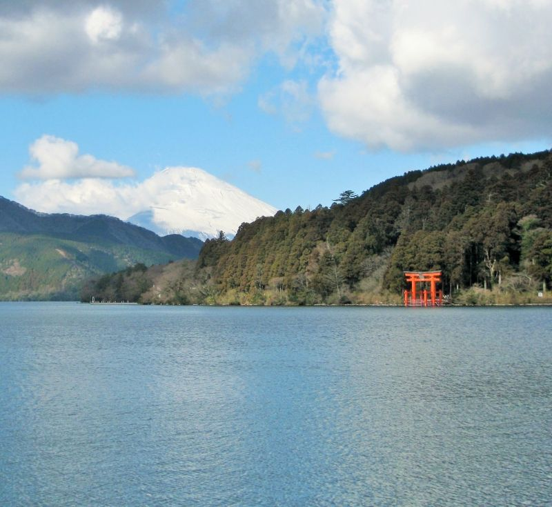 Lake Ashi in Hakone near Mt. Fuji
