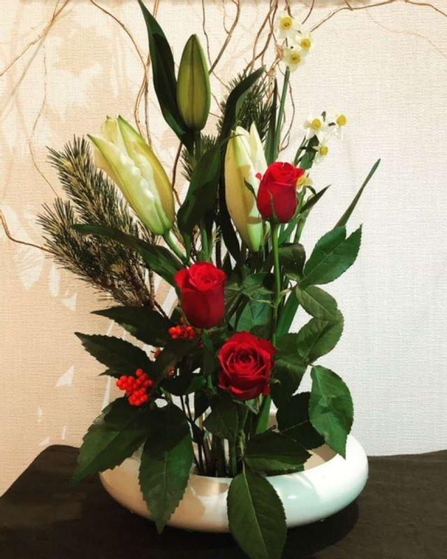 The flower arrengement Japanese style
