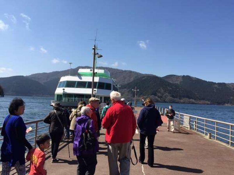 Hakone Lake Ashi boat cruise.