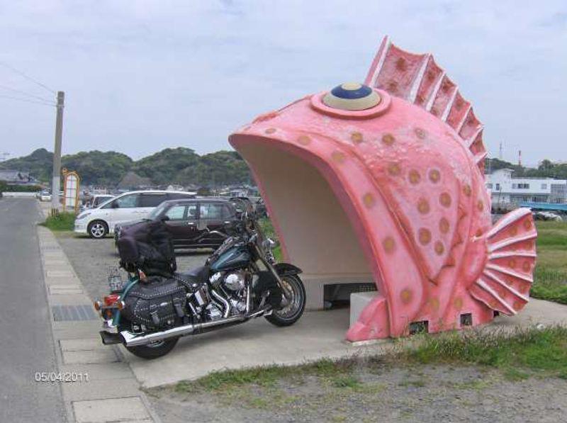 Unique bus  stop in Nagasaki