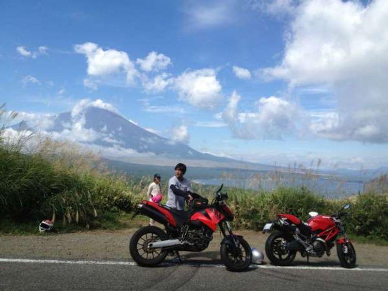 Mt. Fuji from Mikuni pass.