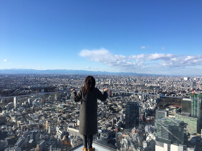 Gorgeous view from the observatory of Shibuya Scramble Square bldg.