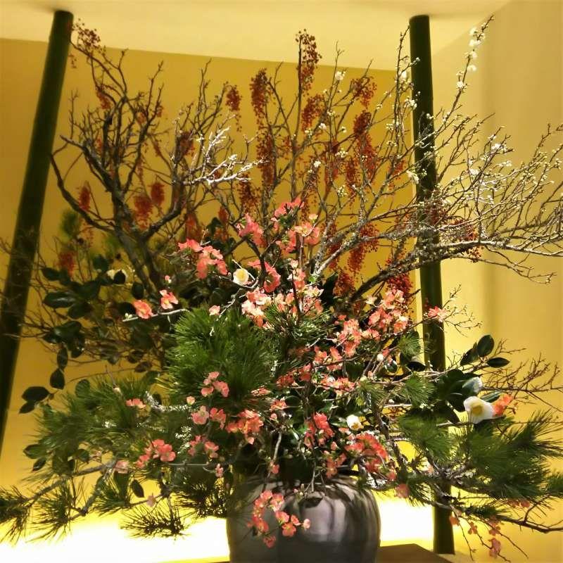 New Year flower arrangement in Tokyo National Museum