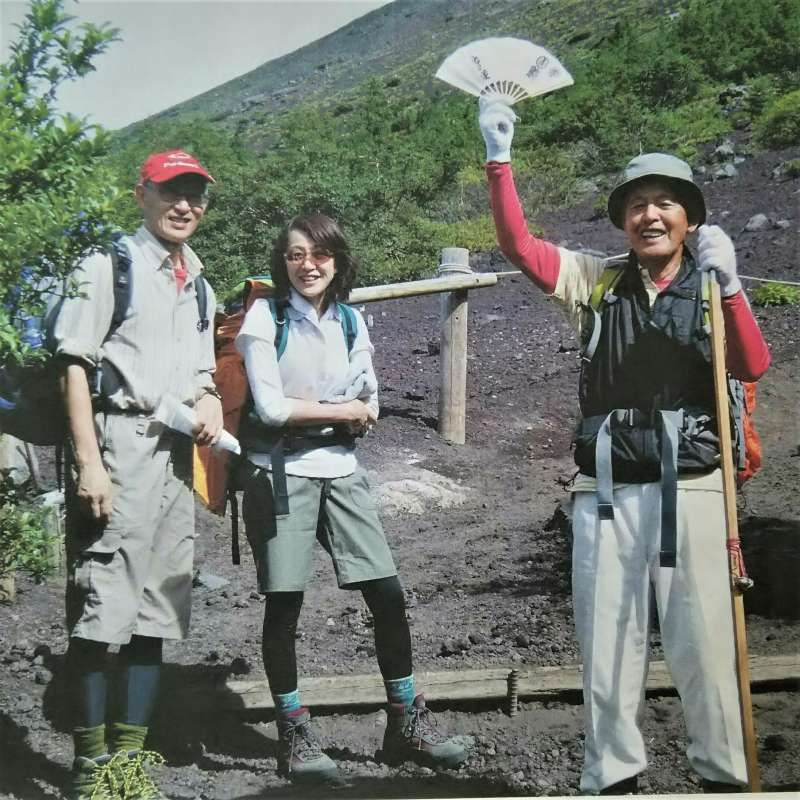 After climbing Mt.Fuji (family pic)