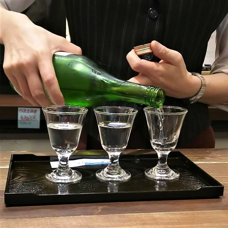Sake tasting  - you can taste very best sake from all over Japan in the middle of Tokyo!