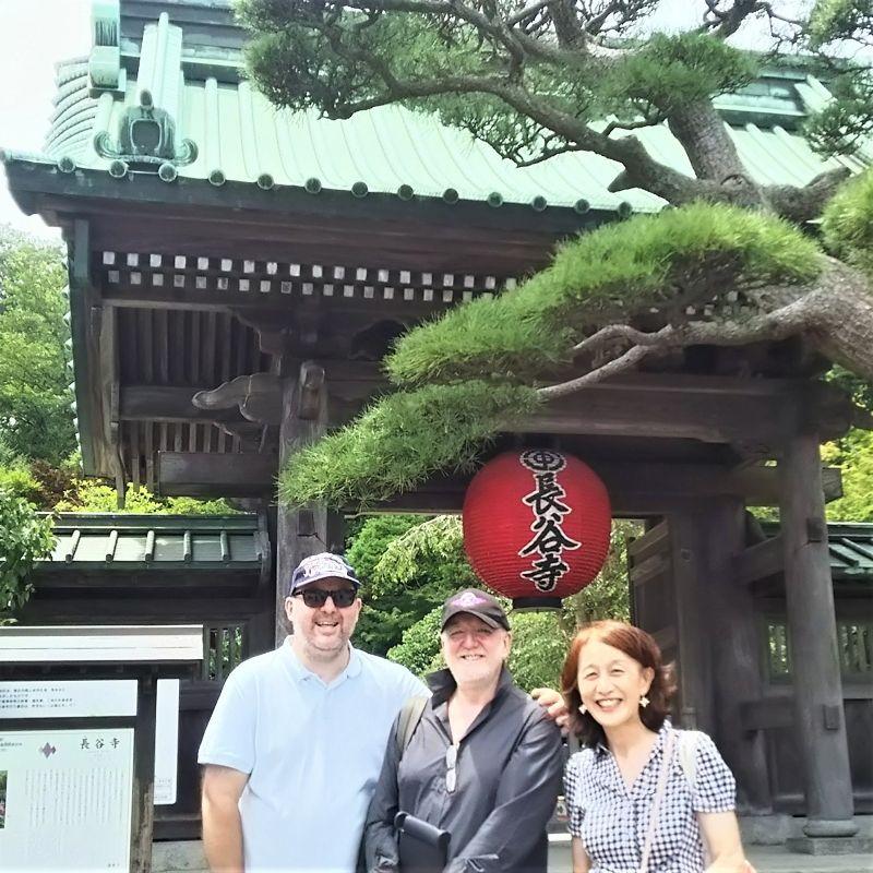 Brothers and sister?? at Hasedera temple, Kamakura