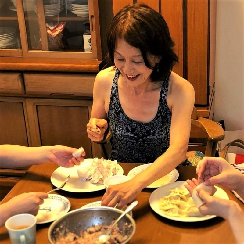 Gyoza, dumpling making party with friends & family