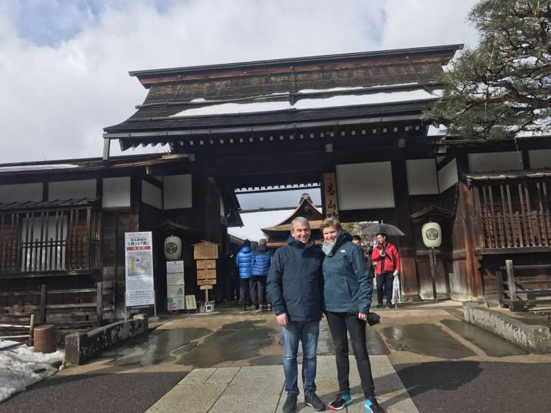 In front of Takayama Zinya (old samurai house)
