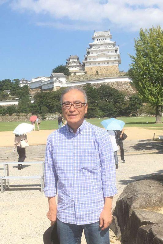 With Himeji Castle.