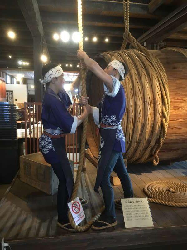Japanese Sake Brewery Museum shows us how to make Sake with waxwork.