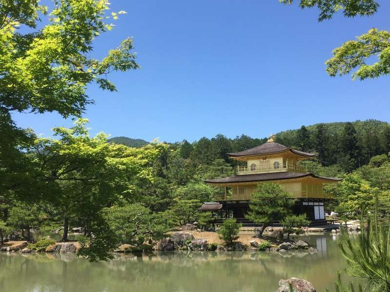 The Golden Pavilion (Kinkakuji Temple) always shows the greatest beauty for visitors.