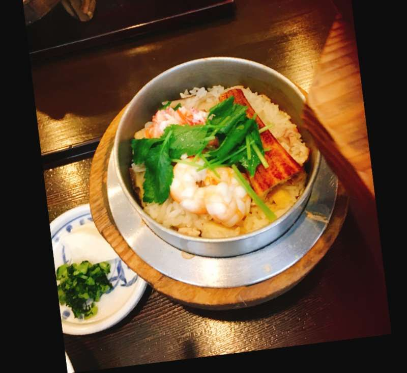 Nara famous kamameshi restaurant Shizuka