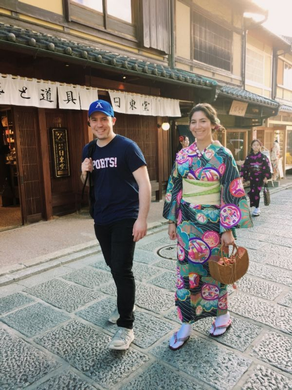 Kyoto tour with honey moon couple John and Mayra from AUS