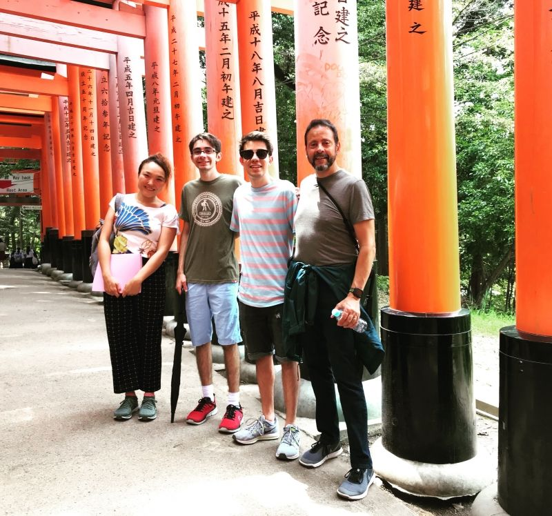 I'm happy to guide you at Fushimi Inari 1000s red gates shrine more than 1000s times! It's my favorite, too!
