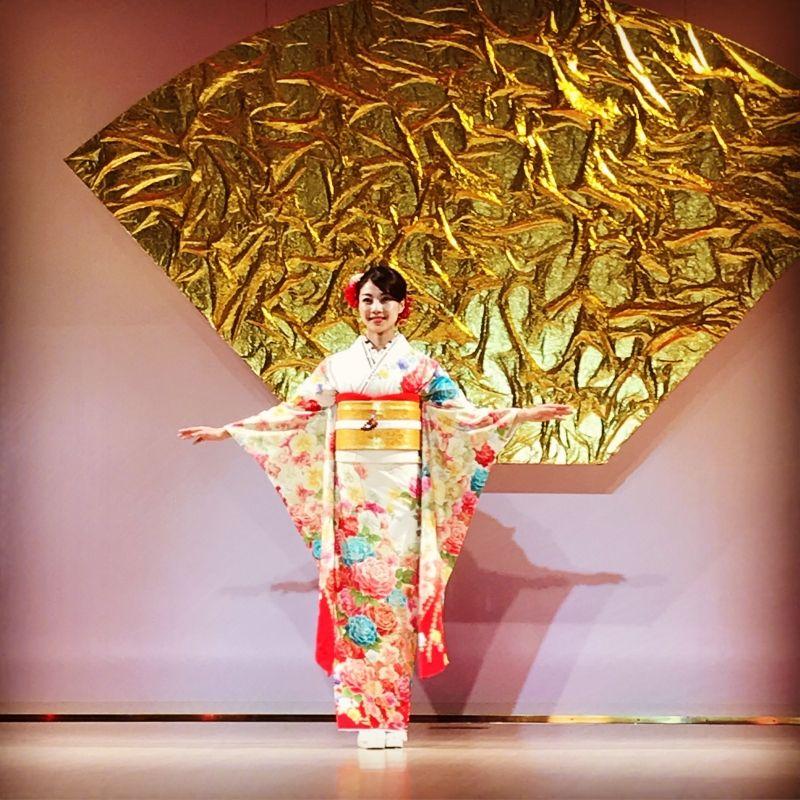 Kimono show in Kyoto!!