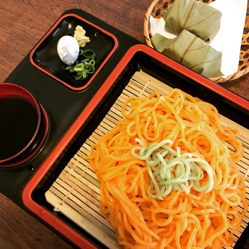 Have you eaten,,,,Persimmon  noodles and persimmon leaves sushi in Nara!?!?