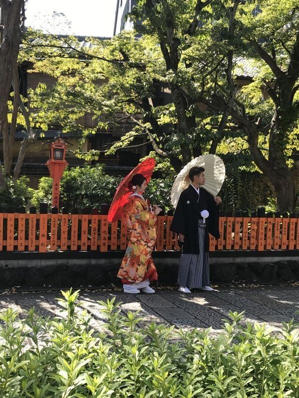 Wedding photo shoot in kyoto