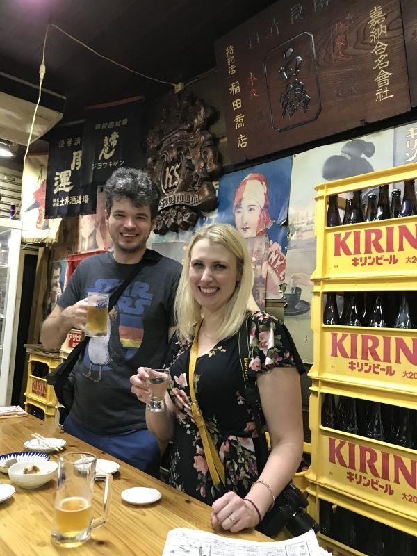 Osaka local standing sake bar experience!!