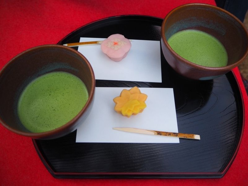 Matcha tea and Wagashi♫