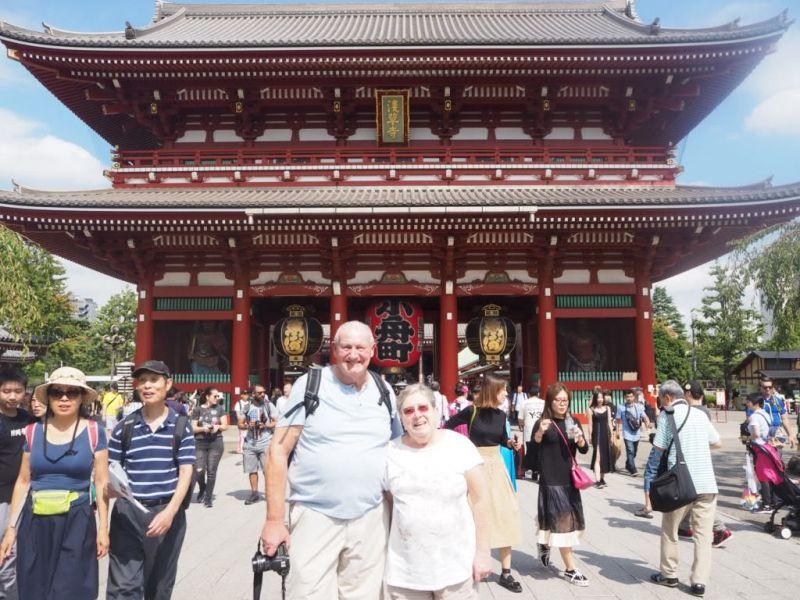 Hozomon gate at Sensoji temple in Asakusa.