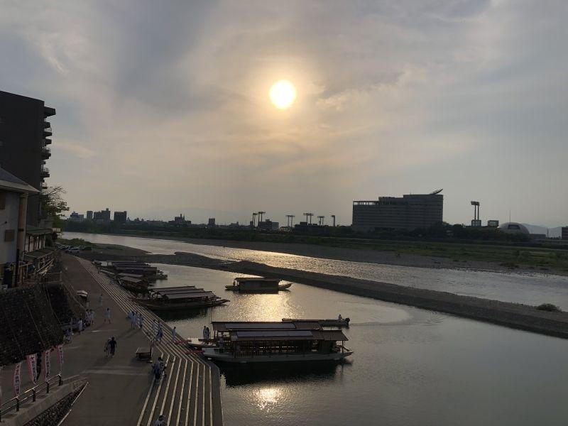 Beautiful sunset from Nagara bridge
