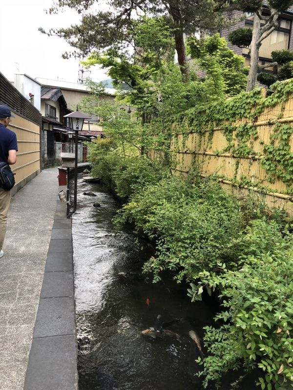 Clear waterway 'Igawa komichi'.