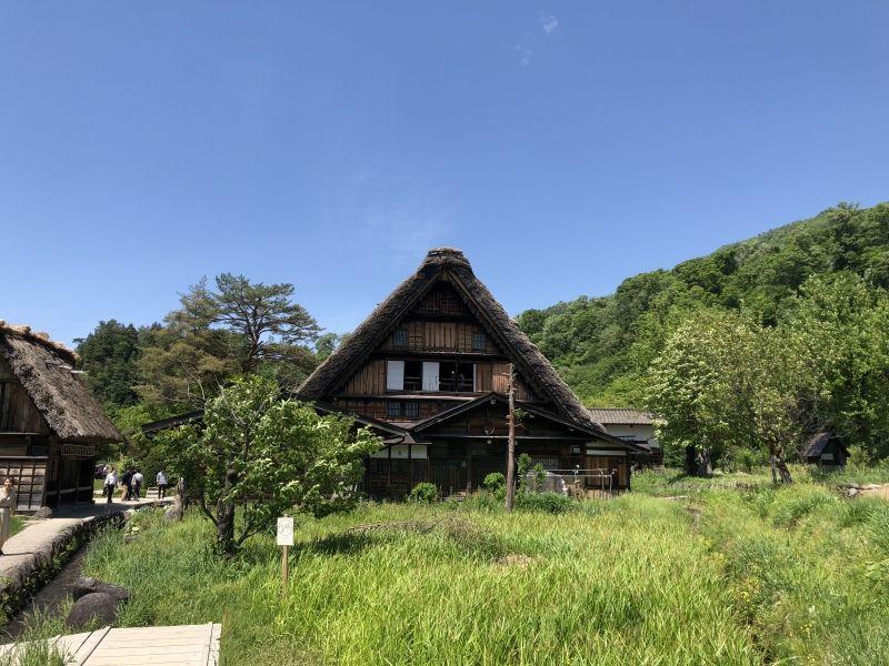 One of traditional farmhouses in Shirakawago, the World Heritage Site in Gifu prefecture.
