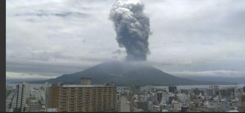 An eruption