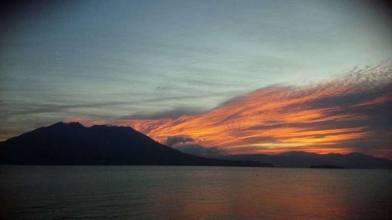 Mt.Sakurajima at dawn