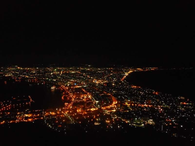 Night view from the summit of Mt. Hakodate