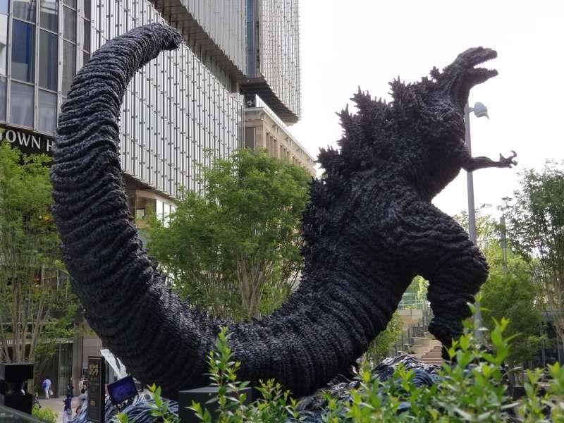 Godzilla statue at Ginza, Tokyo.